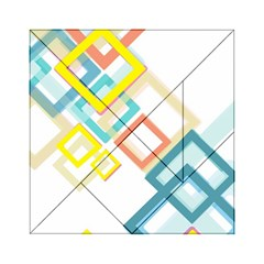 The Background Wallpaper Design Acrylic Tangram Puzzle (6  X 6 ) by Celenk
