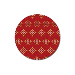 Pattern Background Holiday Magnet 3  (round)