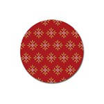 Pattern Background Holiday Magnet 3  (Round) Front
