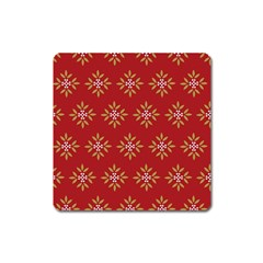 Pattern Background Holiday Square Magnet by Celenk