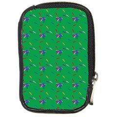 Bird Blue Feathers Wing Beak Compact Camera Cases by Celenk