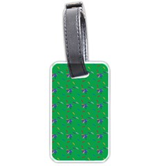 Bird Blue Feathers Wing Beak Luggage Tags (one Side)  by Celenk
