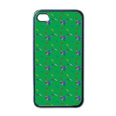 Bird Blue Feathers Wing Beak Apple Iphone 4 Case (black) by Celenk