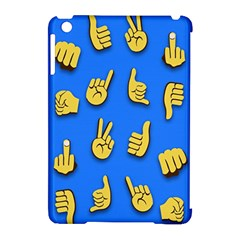 Emojis Hands Fingers Background Apple Ipad Mini Hardshell Case (compatible With Smart Cover) by Celenk