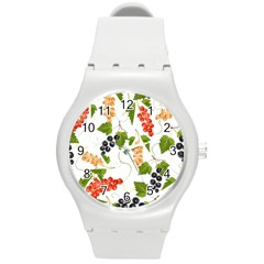 Juicy Currants Round Plastic Sport Watch (m) by TKKdesignsCo