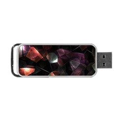 Crystals Background Design Luxury Portable Usb Flash (two Sides) by Celenk