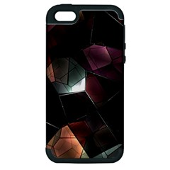Crystals Background Design Luxury Apple Iphone 5 Hardshell Case (pc+silicone) by Celenk