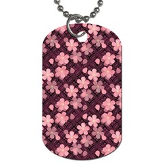 Cherry Blossoms Japanese Style Pink Dog Tag (one Side) by Celenk