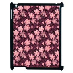Cherry Blossoms Japanese Style Pink Apple Ipad 2 Case (black) by Celenk
