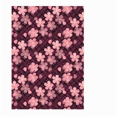 Cherry Blossoms Japanese Style Pink Large Garden Flag (two Sides) by Celenk