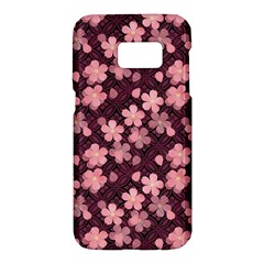 Cherry Blossoms Japanese Style Pink Samsung Galaxy S7 Hardshell Case  by Celenk