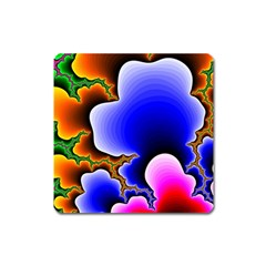 Fractal Background Pattern Color Square Magnet by Celenk