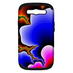 Fractal Background Pattern Color Samsung Galaxy S Iii Hardshell Case (pc+silicone) by Celenk