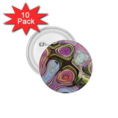 Retro Background Colorful Hippie 1 75  Buttons (10 Pack) by Celenk