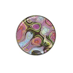Retro Background Colorful Hippie Hat Clip Ball Marker by Celenk