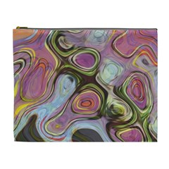 Retro Background Colorful Hippie Cosmetic Bag (xl) by Celenk