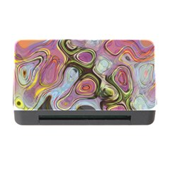 Retro Background Colorful Hippie Memory Card Reader With Cf by Celenk