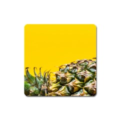 Pineapple Raw Sweet Tropical Food Square Magnet by Celenk