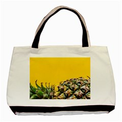 Pineapple Raw Sweet Tropical Food Basic Tote Bag (two Sides) by Celenk