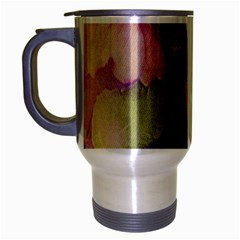 Fabric Textile Abstract Pattern Travel Mug (silver Gray) by Celenk