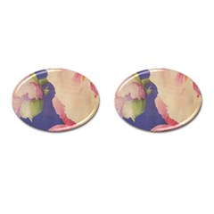 Fabric Textile Abstract Pattern Cufflinks (oval) by Celenk