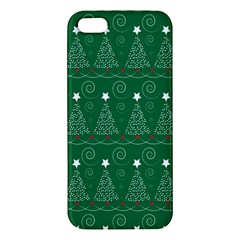 Christmas Tree Holiday Star Apple Iphone 5 Premium Hardshell Case by Celenk