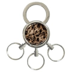 Structure Background Pattern 3 Ring Key Chains by Celenk