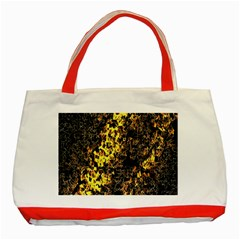 The Background Wallpaper Gold Classic Tote Bag (red) by Celenk