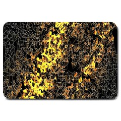 The Background Wallpaper Gold Large Doormat  by Celenk