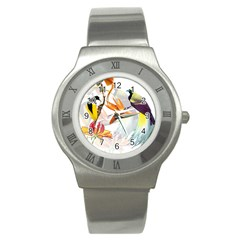 Birds Of Paradise Stainless Steel Watch by TKKdesignsCo