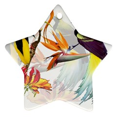 Birds Of Paradise Star Ornament (two Sides) by TKKdesignsCo