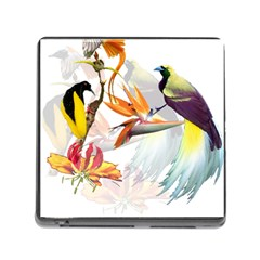 Birds Of Paradise Memory Card Reader (square) by TKKdesignsCo
