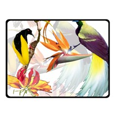 Birds Of Paradise Fleece Blanket (small) by TKKdesignsCo