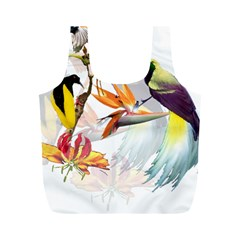 Birds Of Paradise Full Print Recycle Bags (m)  by TKKdesignsCo
