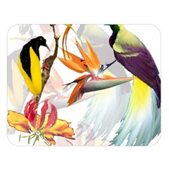 Birds Of Paradise Double Sided Flano Blanket (large)  by TKKdesignsCo