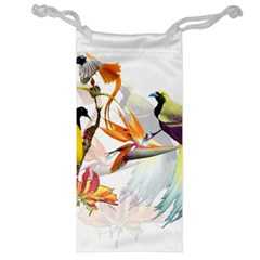 Exotic Birds Of Paradise And Flowers Watercolor Jewelry Bag by TKKdesignsCo