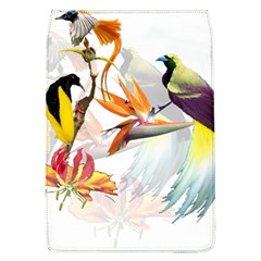Exotic Birds Of Paradise And Flowers Watercolor Flap Covers (l)  by TKKdesignsCo