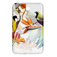 Exotic Birds Of Paradise And Flowers Watercolor Samsung Galaxy Tab 3 (7 ) P3200 Hardshell Case  by TKKdesignsCo