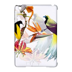 Exotic Birds Of Paradise And Flowers Watercolor Apple Ipad Mini Hardshell Case (compatible With Smart Cover) by TKKdesignsCo