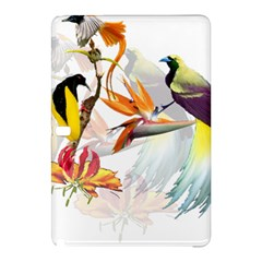 Exotic Birds Of Paradise And Flowers Watercolor Samsung Galaxy Tab Pro 10 1 Hardshell Case by TKKdesignsCo