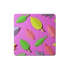 Leaves Autumn Nature Trees Square Magnet by Celenk