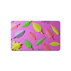 Leaves Autumn Nature Trees Magnet (name Card) by Celenk