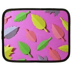 Leaves Autumn Nature Trees Netbook Case (large) by Celenk