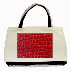 Textile Texture Spotted Fabric Basic Tote Bag by Celenk