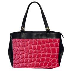 Textile Texture Spotted Fabric Office Handbags (2 Sides)  by Celenk