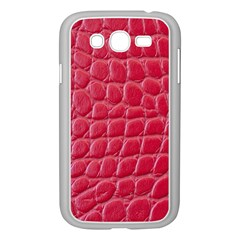 Textile Texture Spotted Fabric Samsung Galaxy Grand Duos I9082 Case (white) by Celenk