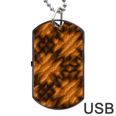 Background Texture Pattern Dog Tag Usb Flash (two Sides) by Celenk