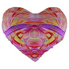 Cosmic Energy Pattern Large 19  Premium Flano Heart Shape Cushion by Cveti