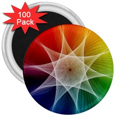 Abstract Star Pattern Structure 3  Magnets (100 Pack) by Celenk