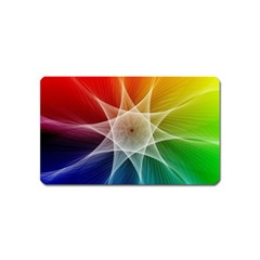 Abstract Star Pattern Structure Magnet (name Card) by Celenk
